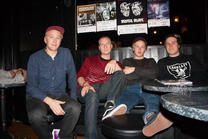 Thube Hefner, Musa-Jusa, Päkä ja Hätä-Miikka ovat puskeneet rap-kentälle ryminällä. Kuva Vilho Pirttijärvi.